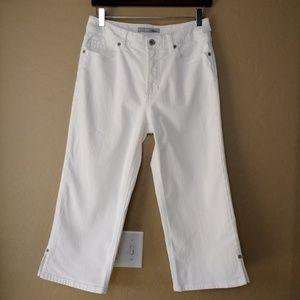 Chico's Platinum Quartz Crop White Denim Jeans